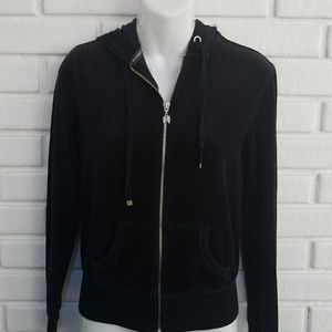 Victoria's Secret Black Zip Up Hoodie XS